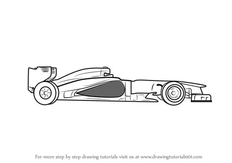 learn how to draw f1 car sports cars step by step formula 1 car drawings step by step www pixshark