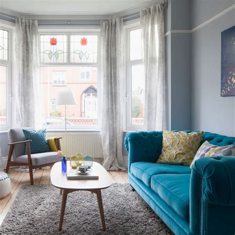 period living rooms period living room with bold blue sofa housetohome co uk