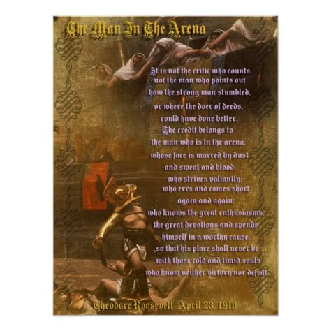 the true flag theodore roosevelt and the birth of american empire books quot the in the arena quot theodore roosevelt poster zazzle