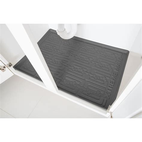 kitchen cabinet mats xtreme mats grey kitchen depth under sink cabinet mat drip
