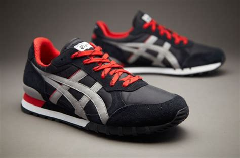 Sepatu Asics Onitsuka Tiger Biru Running Olahraga Casual Pria onitsuka tiger colorado eighty five mens select footwear black grey t k