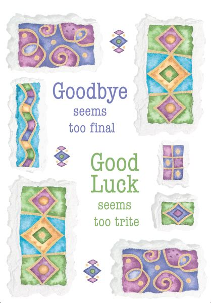 free printable luck card template 5 best images of free printable goodbye cards free