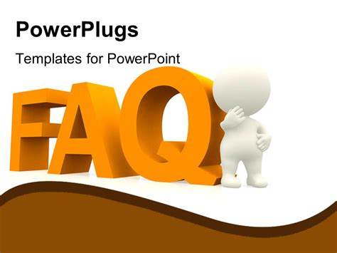 faq template word powerpoint template a person with the word faq and white