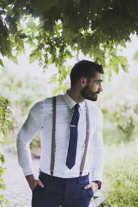 mens wedding attire with suspenders backyard wedding inspiration of easy elegance