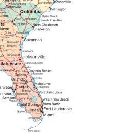 map of south carolina and florida southeastern map region area maps of the united states