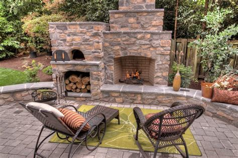 Backyard Accessories Backyard Landscaping With Fireplace Landscape Traditional