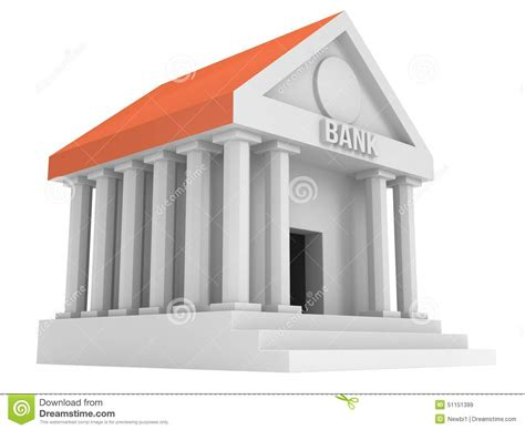 d bank banking bank building 3d icon stock illustration image of