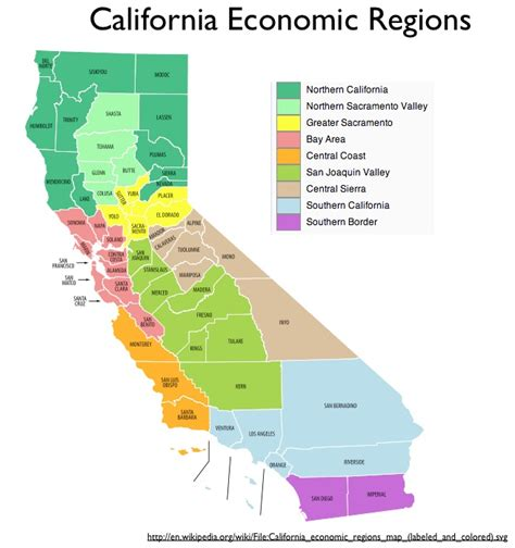 california map divided by counties regionalizing california geocurrents