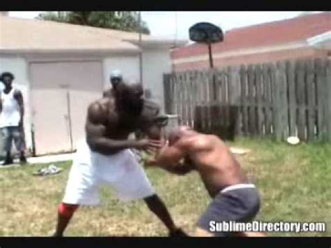 kimbo slice backyard fights street fights kimbo slice vs byrd youtube