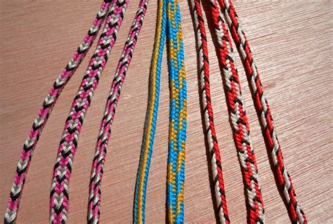 String Braiding Techniques - start here 5 loop braids loop braiding