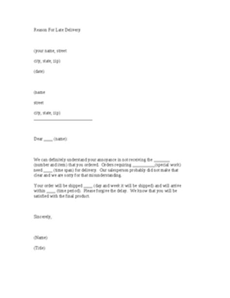 Cancellation Letter Due To Late Delivery Sle Apology Letter For Late Delivery Sles Business Letter Format For Cover