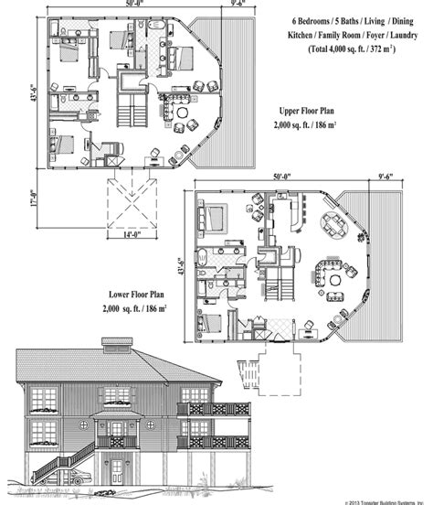 4000 sq ft house plans house plan 6 bedrooms 5 baths 4000 sq ft premiere collection pgte 0606