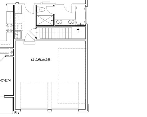 stairs in floor plan hollis 2432 3 bedrooms and 2 baths the house designers
