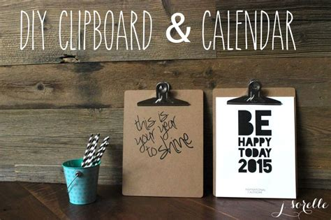 day 9 diy clipboard and calendar gift idea