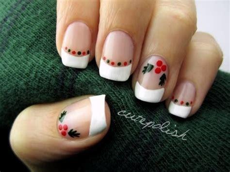 easy nail art by cutepolish easy holly nail art youtube