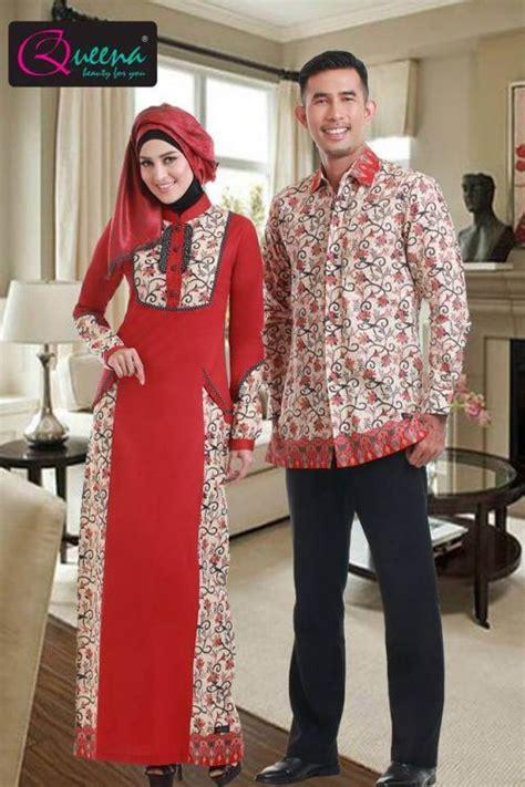 gamis batik kombinasi kain polos model terbaru 2017