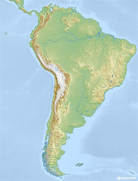 south america physical map free physical maps of south america mapswire