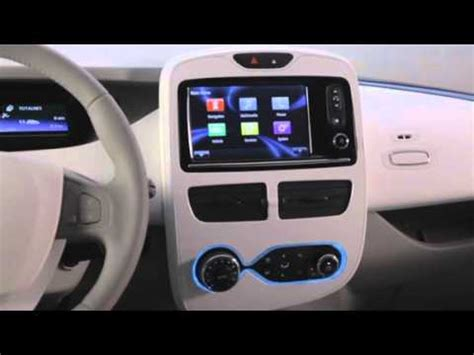 renault zoe interior renault zoe interior official youtube