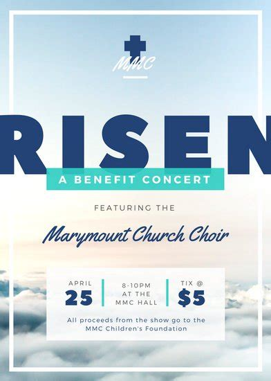 New Catalog From Benefit 2 by Church Choir Concert Flyer Templates By Canva
