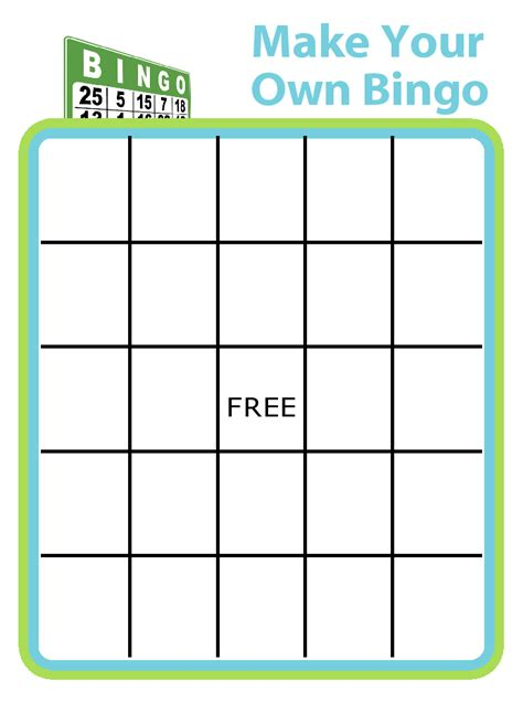 make your own card template 24 images of editable bingo cards free template eucotech