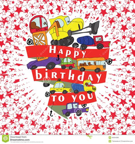 doodlebug happy cer child s draw cars doodle happy birthday