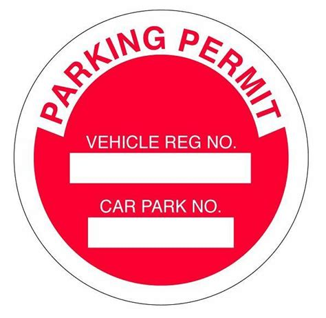 car parking permit badge card holder accessories