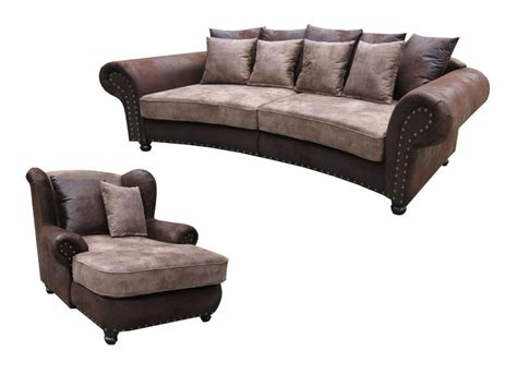 how big is a loveseat big sofa quot hawana quot kolonialstil inkl big sessel megasofa