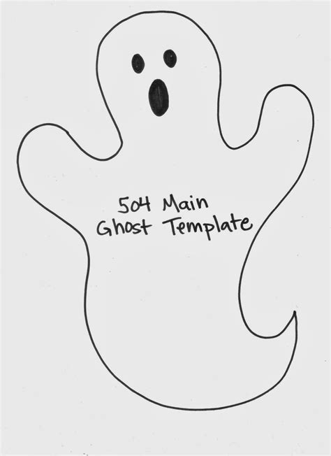 ghost template printable 504 by lefevre how to make a simple