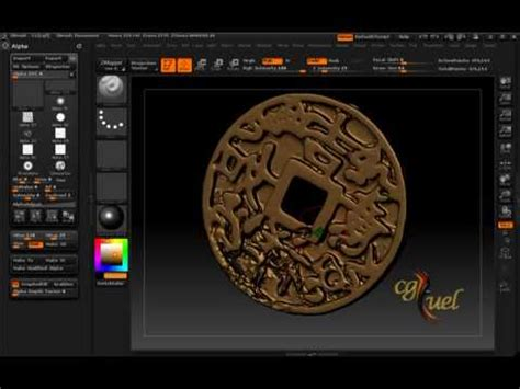 zbrush stencil tutorial brushes and alphas in zbrush youtube