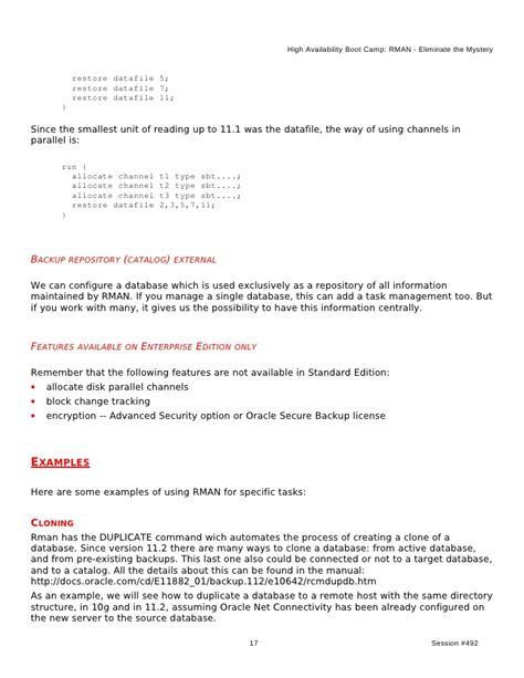 rman section size rman section size 28 images آموزش pluralsight ocp 12c