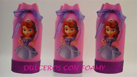 souvenirs de princesa sofia con botella dulcero de princesita sofia con foamy youtube