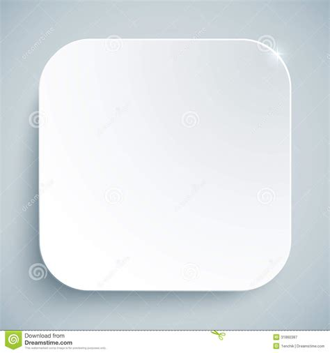apple app icon template white standard icon vector empty template royalty free