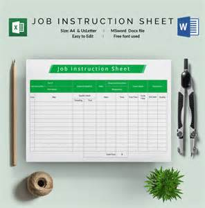 job sheet template 22 free word excel pdf documents