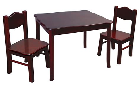 guidecraft classic espresso table and chairs set g86202