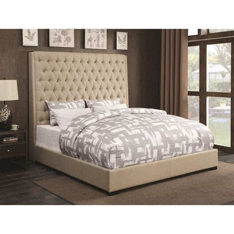 coaster beds coaster upholstered beds 300722q upholstered queen bed