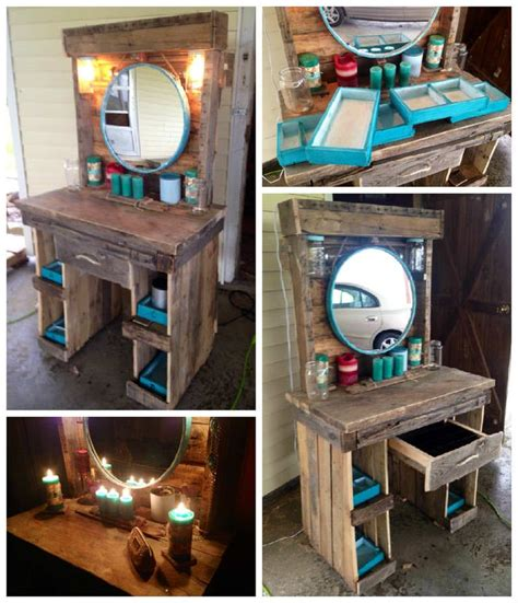 bedroom vanity woodworking plans best 25 pallet vanity ideas on pinterest wood pallets