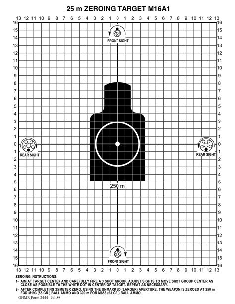 printable scope zeroing targets 1960s and 70s 25 meter target fsm 6920 906 0169 who has it