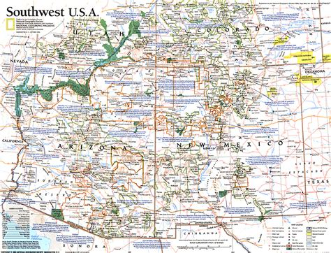 southwest arizona map southwest usa map
