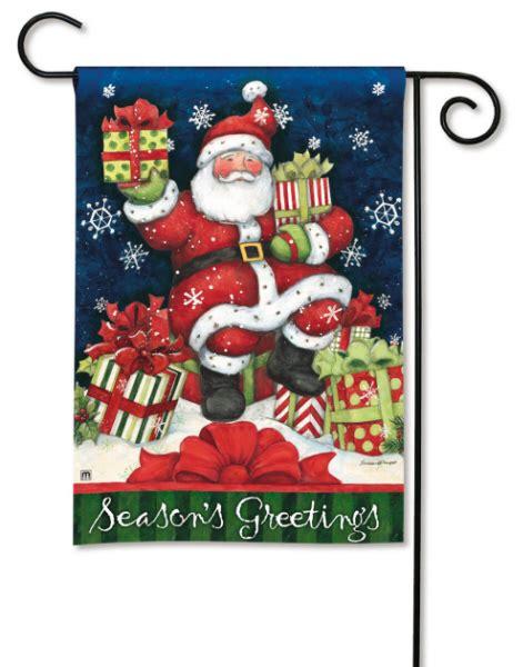 santa s gifts christmas holiday garden or house flag