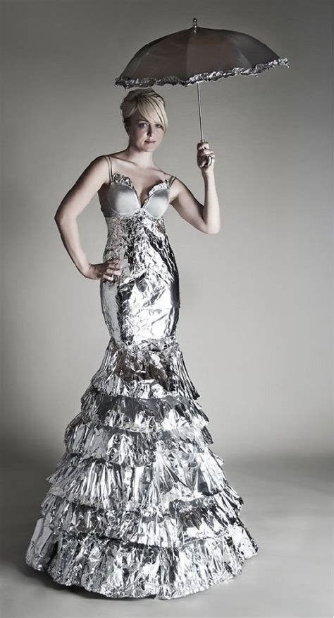 Outens Plight To Make Recycling Fashionable by 10 Dresses Made From Recycled Materials Mermaid