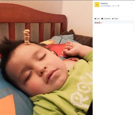 San Antonio Sweepstakes - s a dad wins online cheerio contest by stacking cereal on his sleeping toddler