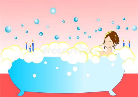 ragazze nella vasca illustrazione della ragazza nella vasca da bagno