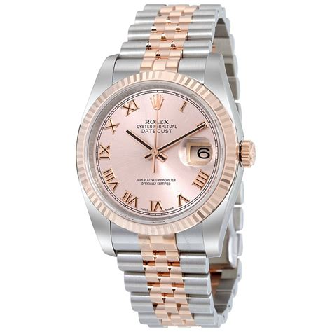 Rolex Datejust Combi Rosegold rolex oyster perpetual datejust 36 stainless steel and 18k everose gold jubilee