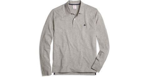Xersion Fit T Shirt Original Grey lyst brothers original fit sleeve heathered polo shirt in gray for