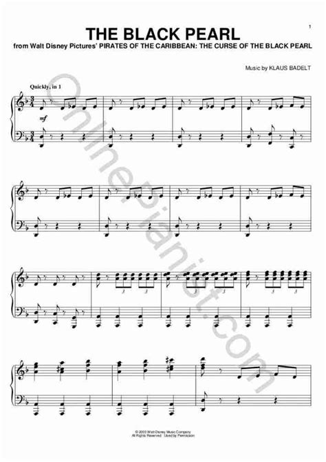tutorial piano pirates of the caribbean the black pearl piano sheet music onlinepianist