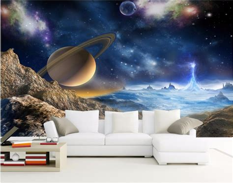 solar system wall mural wallpaper photowall home custom mural 3d wallpaper universe stars planets in the