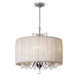 Drum Style Chandelier Shades Joshua Marshal Home Collection Chic 5 Light Chandelier With Oyster Pleated Drum Shade 5