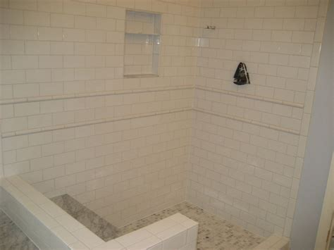 Bathroom Ideas With Wainscoting by Would U Subway Tile This Shower