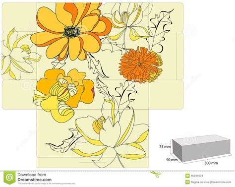 Greeting Card Gift Box Template by Template For Gift Box Stock Images Image 16344624