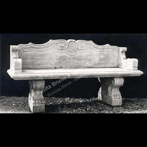 stone garden bench with back peotta bruno stone garden furniture italian stone